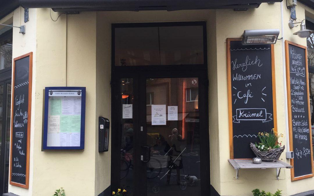 Köln-Blog Nr. 2 – Café Krümel